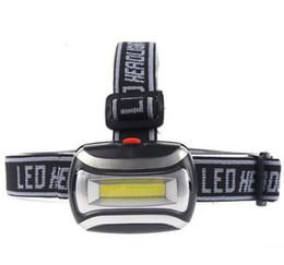 858fabcac6c Mini Waterproof 600Lm COB LED Headlight 3xAAA Headlamp Bike Bicycle Head  light with Headband for Camping Hiking Biking Kids