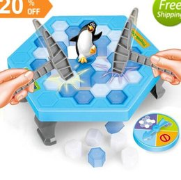 ice puzzle UK - Save Penguin Knock Ice Block Interactive Family Game Penguin Trap Puzzle Table Games Balance I Broken Ice Cubes Puzzle Toys Desktop Game