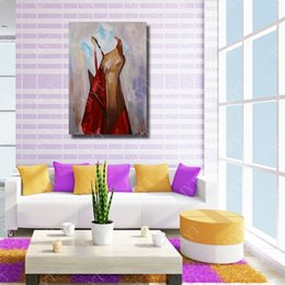 Cheap Decorative Canvas UK - Model Oil Painting Wall Art Decorative Living Room Wall Pictures Cheap Modern Oil Painting on Canvas High Quality