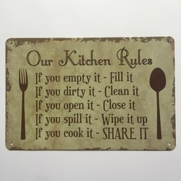 $enCountryForm.capitalKeyWord NZ - Our Kitchen Rules Retro Vintage Metal Tin sign poster for Man Cave Garage shabby chic wall sticker Cafe Bar home decor