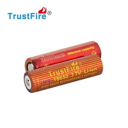 Electronic Imr Canada - TrustFire IMR 18650 Batteries 3.7v 2000mAh rechargeable battery for Electronic cigarettes E-cigaretta