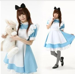 Cosplay Cosplay D'alice Alice Pas Cher-Gros-libres Costumes Cosplay expédition Alice in Wonderland robe lolita costume anime maid tenues pour les filles