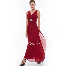 robe soiree sexy pink UK - 2019 Elegant Burgundy Evening Dress Sexy Deep V Neck Long A-line beading draped Ruched Party Dress Elegant Chiffon Prom Dress Robe de soiree