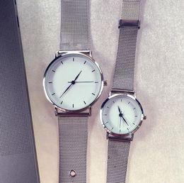 bracelet tags 2019 - Relogio Simple Fashion Lovers Crystal steel strip Stainless Steel Analog Quartz Wrist Watch Bracelet for drop shipping C