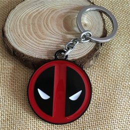 keychain packaging Canada - Super Hero Deadpool Comics Metal Keychain Keyring Products with Sealed Retail Package Light and Easy to Carry Size 4.2cm