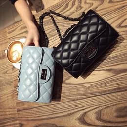 Black Patent Quilted Bag Canada - 2016 summer new small fragrant wind Quilted chain bag mini packet shoulder bag Messenger bag wild female bag tide