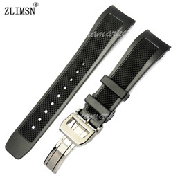 Rubber Include Canada - Silicone Rubber Watch Bands Strap 22mm NEW Black Diver Include deployment clasp Men Women Relojes Hombre 2016 Watches Rubber