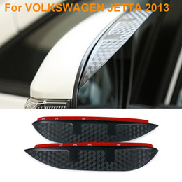 volkswagen jetta mirror UK - 2016 Car Styling Carbon Rearview Mirror Rain Blades Car Back Mirror Eyebrow Rain Cover Protector For VOLKSWAGEN JETTA 2013