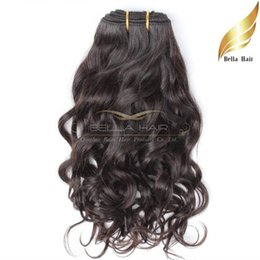 Free shipping wavy hair online shopping - Bella Hair A Brazilian Hair Weave Unprocessed Natural Color Natural Wave Wavy Hair Extensions Double Weft inch