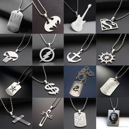 $enCountryForm.capitalKeyWord NZ - Fashion Stainless Steel 316L Army Dog Tag Men Necklace CS Games Pendant Necklaces Charms Jewelry for Man Superhero Necklaces Fans Nice Gift