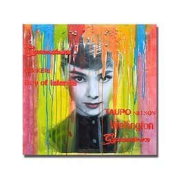 Painting Faces Australia - Wall Design Women Face Oil Painting for Living Room Decoration Modern Abstract Arylic Paintings on Canvas Single Set No Framed