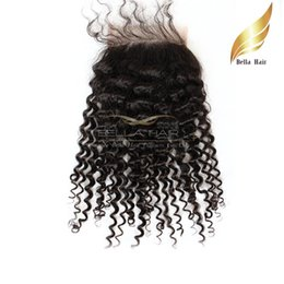 "Discount malaysian curly hair closure piece - Hair Closures 8""-26"" Kinky Curly Weave Topclosures(4x4) Malaysian Hair Pieces Lace Closure Human Hair Free Shi"