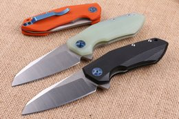 oem box new 2019 - 2016 New OEM ZT0456 Flipper Folding Blade Knife 9Cr18 HRC58-59 Satin Blade G10 Handle EDC Pocket Knife with Original Pap