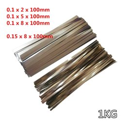 China 1KG lot Nickel Plated Steel Strap Strip Sheets for 18650 Battery Spot Welding Machine Welder Equipment suppliers