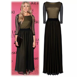 Evening dress three quarter length black