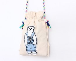 $enCountryForm.capitalKeyWord NZ - New Girls Boys Eco Canvas organizer drawstring wrapping shoulder Bags shopping phone candy hand bag kids DIY craft Christmas gift small bags
