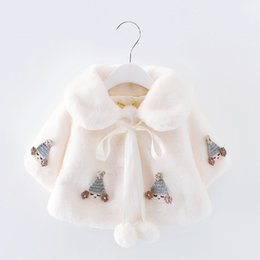 Patrones De Vestuario Baratos-2017 Sweety Princesa Disfraces de Halloween para Niñas Pure Flower Girl Coat de la boda Cute Pattern Kids Cloak En Stock