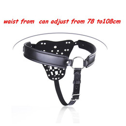 $enCountryForm.capitalKeyWord NZ - Chastity Devices Male BDSM PVC leather Male chastity belt lock adult erotic penis cage penis rings penis bondage cock rings
