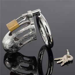 $enCountryForm.capitalKeyWord Australia - Adult Games Male Chastity Devices Belt Penis Ring Stainless Steel Cock Cage Metal Cock Lock Bondage Gear Adult Sex Toys JD951