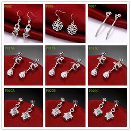 $enCountryForm.capitalKeyWord Canada - High grade fashion women's gemstone 925 silver earring 10 pairs mixed style,cheap sterling silver Dangle Chandelier earrings GTP9