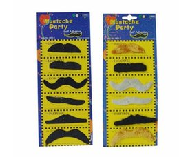 Self adheSive muStache online shopping - Costume Party Halloween Fake Mustache Moustache Funny Fake Beard Whisker Self Adhesive Mustaches Set