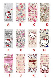 Discount hello cell phones - For Apple iphone 7 plus 6 6S plus SE silicone case 40th anniversary Hello kitty ultra thin Plating TPU cell phone cases