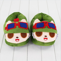 Teemo Toys NZ - 26cm League of Legends Teemo Slippers plush Soft Doll Toy birthday Christmas gift free shipping EMS