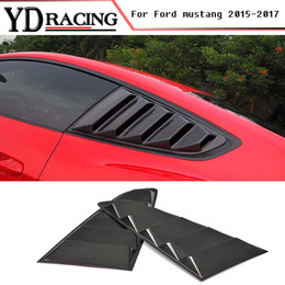 carbon fiber grilles NZ - Carbon Fiber 2 SET Auto Car Grille Side Window Grilles Air intake Trims Air Vent for Ford Mustang 2015-2017