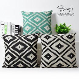 2018 euro home lighting Light Blue White Black Diamond Pattern Art Painting Decorative Pillow Case Cover  sc 1 st  DHgate.com & Discount Euro Home Lighting | 2018 Euro Home Lighting on Sale at ... azcodes.com