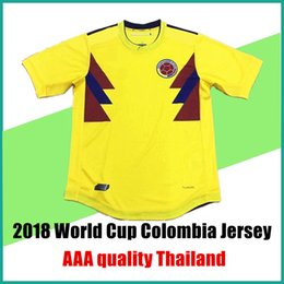 768d43fb681 ... 2017 2018 World Cup Colombia soccer jerseys home yellow uniforms FALCAO  JAMES CUADRAD AGUILAR GUARIN C ...