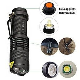 Wholesale Rockbirds LED Flashlight A100 Mini Super Bright Mode Tactical Flashlight Best Tools for Hiking Hunting Fishing and Camping Accessories