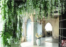 $enCountryForm.capitalKeyWord Australia - Upscale Artificial Silk Flower Vine Home Decor Simulation Wisteria Garland Craft Ornament For Wedding Party Decorations Free Shipping