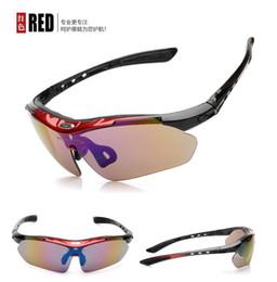 23249246fc Venta al por mayor ROBESBON UV400 Gafas de sol 5 unids Lente Deporte Gafas  de sol Gafas Ciclismo Equipo de Protección Gafas Polarizadas Negro azul  blanco ...