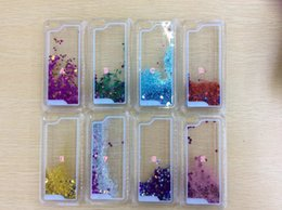 skins move 2018 - Bling Liquid Quicksand Dynamic Star Glitter Hard PC Case For Iphone 7 7Plus 7+ 7p SE 5 5S 5C 6 6S Plus Moving Powder Spa