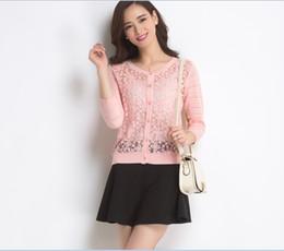 $enCountryForm.capitalKeyWord Canada - Wholesale- New Fashion Spring Lady Girl Candy Colors Long Sleeve Lace Knitwear Cardigan