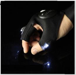 Vente en gros -Nouveau sports de plein air LED allume des gants d'éclairage portable nuit pêche accessoires nuit gants de sport A0313 en Solde