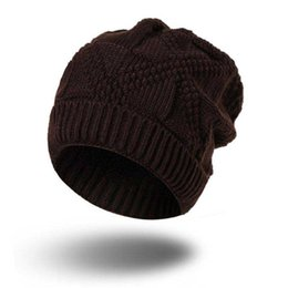 1febc3f3d5a Wholesale New Fashion Winter Snow Caps Knitted Beanie Hat Poms For Women  and Men Hip Hop Skullies caps free shipping