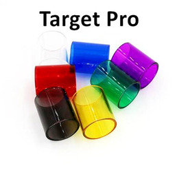 Discount free pro - Colorful Target Pro Glass Tube Pyrex Glass Replacement Sleeve Tube For Target Pro Atomizer High quality DHL Free