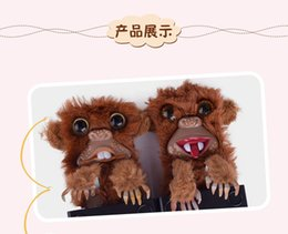 животные обезьяны оптовых-Snekuls Pet Pranksters Jitters Mur Plasticle Brown Pet Snekums Игрушка Jitters Fur Plasticle Brown Pet Proktser Monkey Kids Pired
