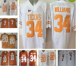 27eef368e ... Men Texas Longhorns Shane Buechele College Jerseys NCAA 10 Vince Young  20 Earl Campbell 34 Ricky .