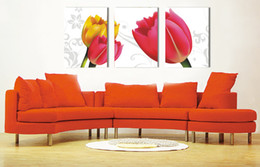 tulips flower cartoon UK - unframed art picture 3 Pieces Home decoration Canvas Prints tulips Cartoon flower dragonfly Bamboo tree forest Daisy Calla Lily stone