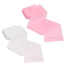massage disposable UK - Practical 10Pcs Massage Beauty Waterproof Disposable Nonwoven Bed Table Cover Sheets Beauty Salon Dedicated White Pink 80X180cm