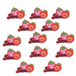 10 PCS apple bordados remendos para roupas de ferro-on patch applique ferro em remendos acessórios de costura crachá crachá adesivos em roupas DIY