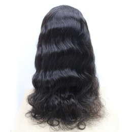 "Virgin Brazilian Human Hair Wigs Canada - Virgin Brazilian Body Wave Hair Full Lace Wigs #1 #1B #4 130% Human Hair Glueless Full Lace Wig Soft Wavy Wigs 10""-30"""