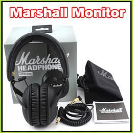 Vs Monitor Canada - 2016 New Marshall MONITOR Headphone Over-Ear Headphones w Microphone HIFI Headset VS Marshall Major II Studio 2.0