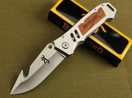 Browning AT-11 X50 X49 354 DA30 X23 CORTE Counter strike Resgate Bowie Knife Camping Caça Resgate Faca Tático caça camping faca venda por atacado