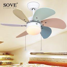 30 Inch Modern LED Ceiling Fan Kids Room Ceiling Fans With Lights Mini Fan  Lamp Children Bedroom Ceiling Light Fan Ventilateur