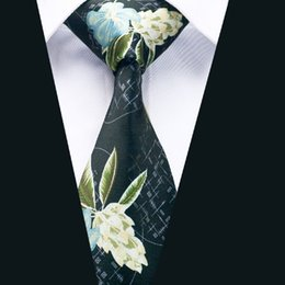 $enCountryForm.capitalKeyWord Canada - Men's Wedding Black Dark Green Floral Tie Classic Stylish Necktie New Arrival Printing Fancy Wide Tie D-1214