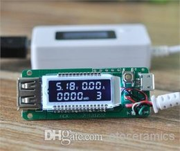 100pcs lot LCD USB Charger Capacity Current Voltage Tester Meter For phone power bank on Sale