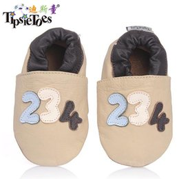 Walkers For Toddlers Australia - Wholesale- TipsieToes Brand Digital Genuine Leather Infant 0 - 6 Baby Kids Soft Toddler Shoes For Boys First Walkers 2017 Autumn Spring